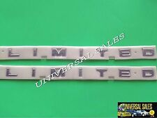 PAIR LIMITED FORD F150 F250 F350 BEDSIDE EMBLEM NAMEPLATE LETTERS PICK UP NEW