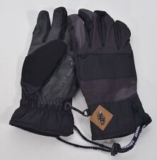 2016 NWOT MENS GRENADE SLASHED GLOVES $70 L black leather palm suede insulated