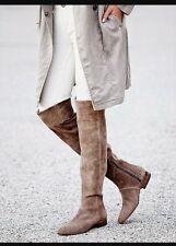 NEW Free People Women's Brown Grandeur Over The Knee Boot Size 38 Retails $398