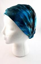 Tie dye headband extra wide jersey stretch kerchief