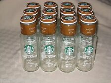 STARBUCK'S CLEAN EMPTY ICED COFFEE GLASS BOTTLES JARS 12 - 11 OUNCE WITH LABELS