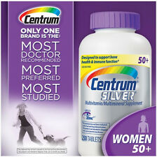 Centrum Silver Women 50+ 250 Tablets. Multivitamin Multimineral. Exp 2018