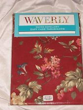 """WAVERLY NAPOLI CABERNET GRAPES WATER-REPEL TABLECLOTH 60""""X 102"""""""