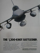 6/1991 PUB GENERAL DYNAMICS USAF F-16 FIGHTING FALCON ORIGINAL AD