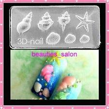 3D Ongle Conque étoile de Mer Acrylique Transparent Nail Art Décoration 66 DIY