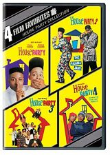 HOUSE PARTY 1 2 3 & 4 Movie Pack (Kid'N'Play)   -  DVD - REGION 1 - SEALED