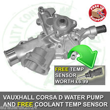 WATER PUMP VAUXHALL CORSA D 1.2 16V 2006 - 2011 CORSA D WATERPUMP 1.2 PETROL 16V