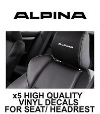 ALPINA/BMW HEADREST CAR SEAT DECALS Vinyl Stickers - Graphics X5