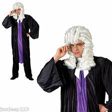 Adulte juge HAUTE COUR COSTUME ROBE FANTAISIE HOMME Avocat Avocat robe robe perruque