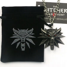 Necklace The Witcher 3 Wild Hunt - Pendentif Tête de Loup - Medaillon Gerald 48H