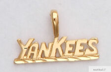 New York Yankees Necklace Pendant Charm Real 24K Yellow Gold Plated  Fan Jewelry
