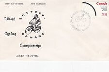 Canada 1974 World Cycling Championships Unadressed FDC