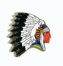 Metal Enamel Pin Badge Brooch Indian Chief Cheif Head Dress American