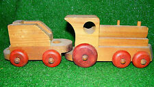 Vintage The Montgomery Schoolhouse Wood Train Set Locomotive & Coal Car