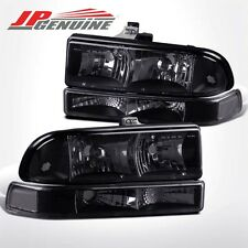 BLACK / CLEAR BUMPER+CRYSTAL STYLE HEADLIGHTS - CHEVY BLAZER / S10 PICK UP 98-04