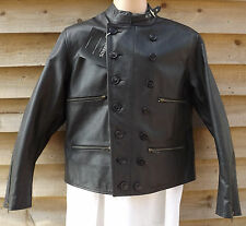 "Cirrus Black Leather Luftwaffe Flying / Pilots / Flight Jacket ~ 38"" Chest"