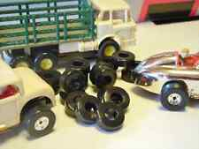 Tom's Aurora T-Jet Indy HotRod Slot Car Soft Black Silicone Racing Tires 10 Pair