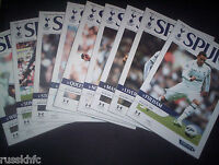 2012/13 TOTTENHAM HOME PROGRAMMES CHOOSE FROM  (2013)