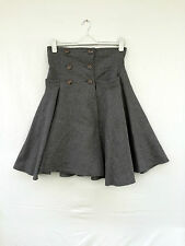"LENA HOSCHEK ; ""Work Skirt "" High-end Wollrock Grau Gr.L  wie NEU !"