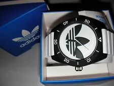 NEW ADIDAS UNISEX SANTIAGO TWO TONE WHITE SILICONE WATCH