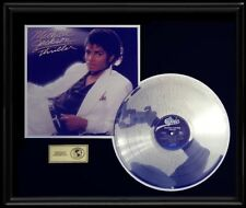MICHAEL JACKSON THRILLER RARE LP GOLD RECORD PLATINUM  DISC ALBUM FRAME