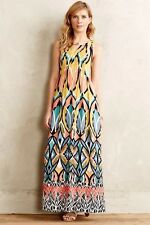 NWT SZ 8 ANTHROPOLOGIE DAHLIA EMBROIDERED MAXI DRESS BY FLOREAT STUNNING /COMFY!