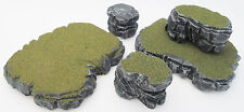 Warhammer 40k Tabletop WarGaming Terrain Scenery Grey Stone Plateau Rocks Set E
