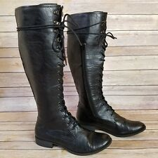 K9 by Rocketdog Womens Size 10 M Black Knee High Lace Up Boots Military *Flawed
