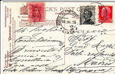 Raccomandata due 35 c+due 50 c IMPERIALE-Lucca- Roma 31.3.1940-RACC MAN