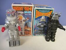 Masudaya ROBBY The ROBOT & Lost In SPACE B-9 (YM-3) Wind-Up ROBOT LOT MIB