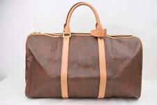 Authentic Vintage Etro Boston Bag Browns PVC Travel Bag/Duffel Bag Extra Large