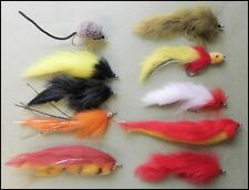 10 mouches pêche brochet-Type mixte taille 2/0 et 1/0, s' amuser mouches