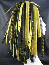 CYBERLOXSHOP YELLOWWEB CYBERLOX CYBER HAIR FALLS DREADS GOTH RAVE YELLOW BLACK