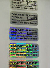 "100 CUSTOMIZED SVAG .75"" x 1.5"" Hologram Security Label Sticker Seals Tamper Ev"