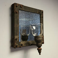 Vintage Antique Style Wall Mirror Candle Tea light holder Gothic Industrial