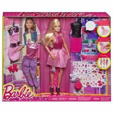 BARBIE FASHIONISTAS GIFT SET - DOLL WITH 3 ADDITIONAL FASHION OUTFITS ... BNIB