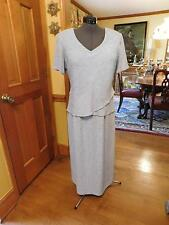 BEAUTIFUL PLUS LIGHT LAVENDER MOTHER OF THE BRIDE/GROOM EMBOSSED DRESS SIZE 18