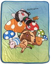Monster Hunter Felines Fleece Throw Blanket Anime Manga NEW