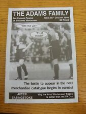 Jan-1998 Wycombe Wanderers: Fanzine - The Adams Family Issue 30. Thanks for view