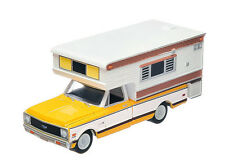 Greenlight  1972 Chevy Cheyenne C20 Truck  w/ Camper  yellow & white