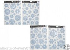 Reusable Snowflake Christmas Window Stickers Glitter Decal Vinyl Decorations