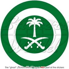 "SAUDI ARABIA AirForce RSAF Aircraft Roundel 100mm (4"") Sticker Decal"