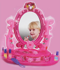 New Set of Girls Vanity Mirror Light & Music With Accessories Toy Gift UK Seller