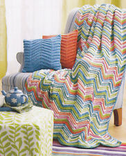 Crochet Pattern ~ ZIGZAG STRIPES AFGHAN ~ Instructions