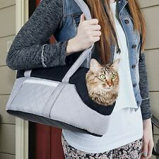 Cozy Cat Carrier Soft Sided Grey and Black