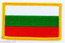 PATCH ECUSSON BRODE DRAPEAU BULGARIE INSIGNE THERMOCOLLANT NEUF FLAG PATCHE