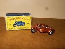 Ancienne / vintage - LESNEY MATCHBOX SERIES - N° 66 HARLEY DAVIDSON - 60's