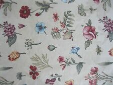 "8 YD Floral "" Braemore Design"" Floral  Fabric Drapery  Material 56""  Wide"
