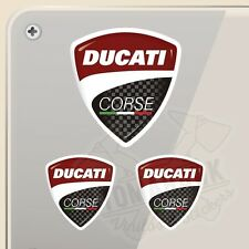 PEGATINA KIT DUCATI CORSE ESCUDO SHIELD  VINILO VINYL STICKER DECAL AUFKLEBER