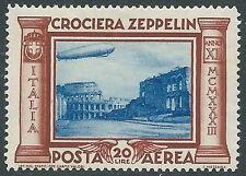 1933 REGNO POSTA AEREA ZEPPELIN 20 LIRE MNH ** - Y182